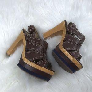 Splendid Shoes - Splendid High Heels Sandles SZ6M Solid Brown NWOT